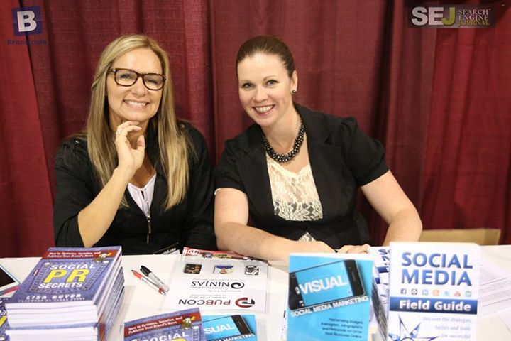 Social Media gets real with Lisa Buyer and Krista Neher book signing @pubcon.