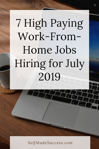 7 high paying work-from-home jobs hiring for july 2019