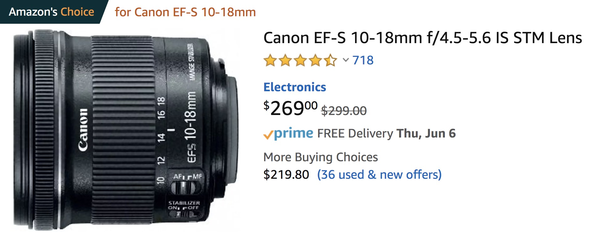 Canon EFS Lens MM - small business video setup