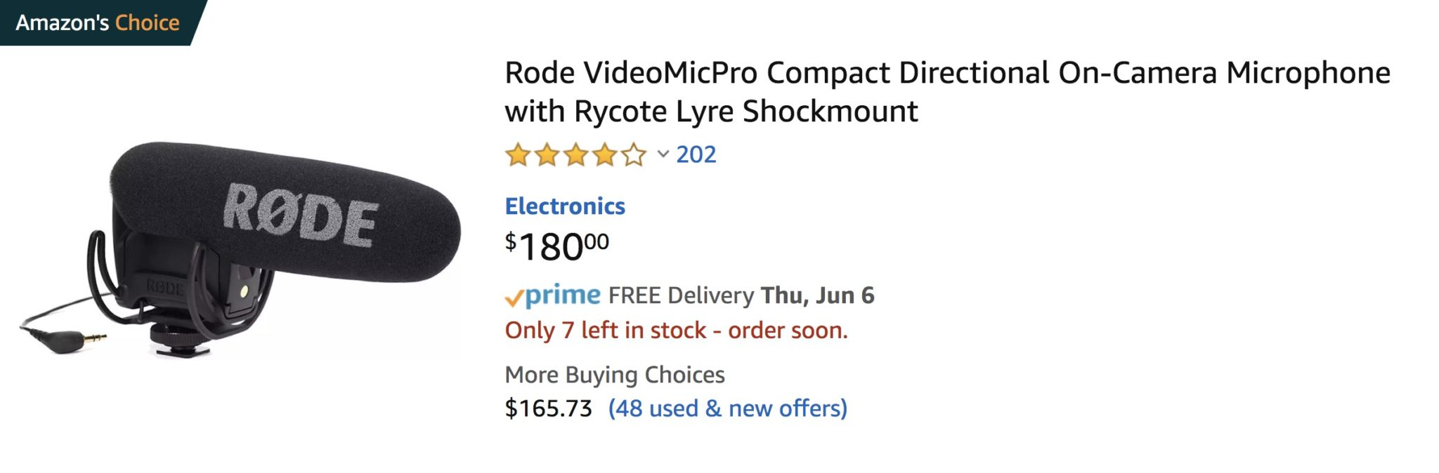 Rode Mic pro - perfect for small business video setup