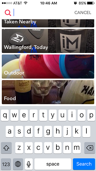 Snapchat Memories for Marketers   Search Feature