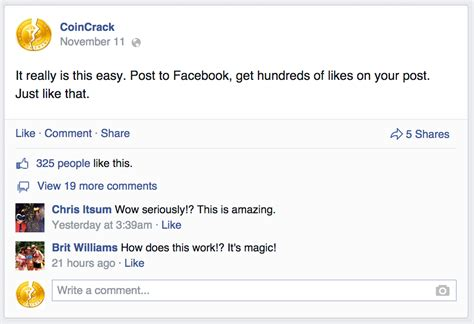 #1 Source For Automatic Facebook Post Likes ϟ /m