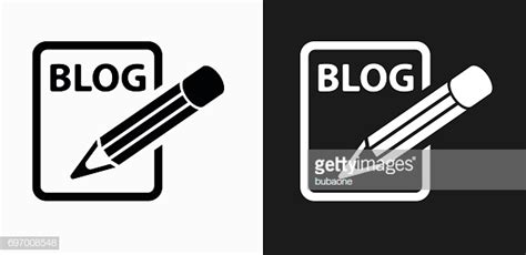 Blog Icon On Black And White Vector Backgrounds Vector Art