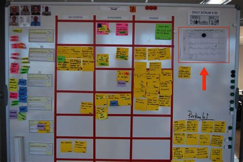 Scrum Board With Highlighted Team Calendar