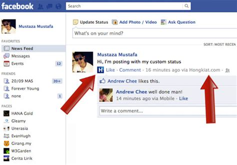 How To Customize The 'via' Status On Your Facebook Posts