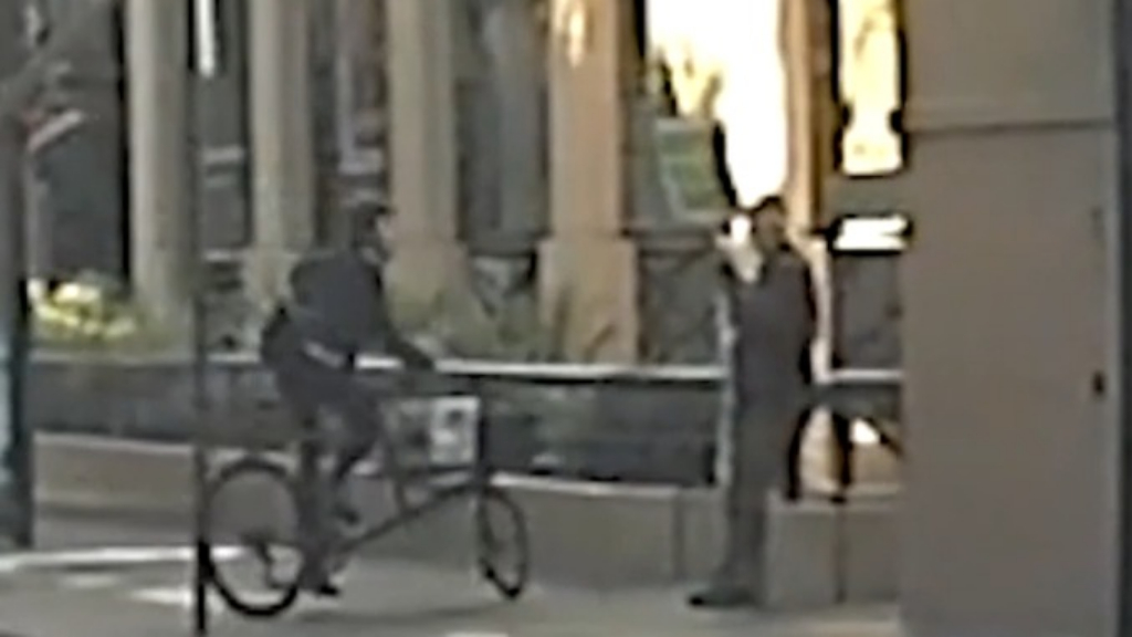Cyclist's vile attack on anti-abortion protester caught on dashcam